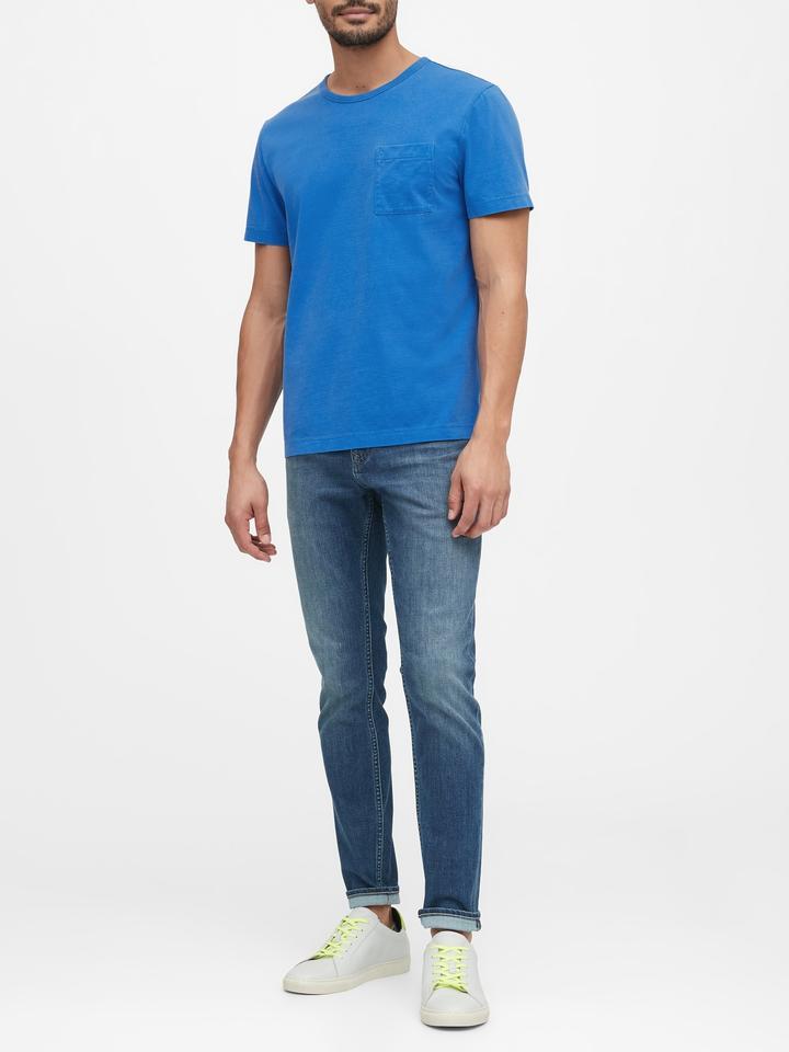 Erkek Kırmızı Authentic SUPIMA® Yuvarlak Yaka T-Shirt