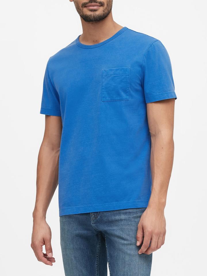 Erkek Sarı Authentic SUPIMA® Yuvarlak Yaka T-Shirt