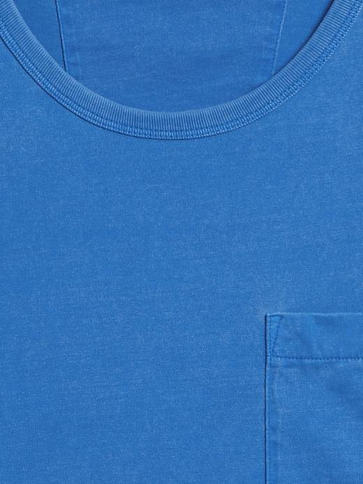 Erkek Mavi Authentic SUPIMA® Yuvarlak Yaka T-Shirt