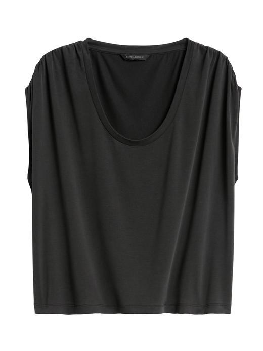 Kadın Siyah Sandwash Modal T-Shirt