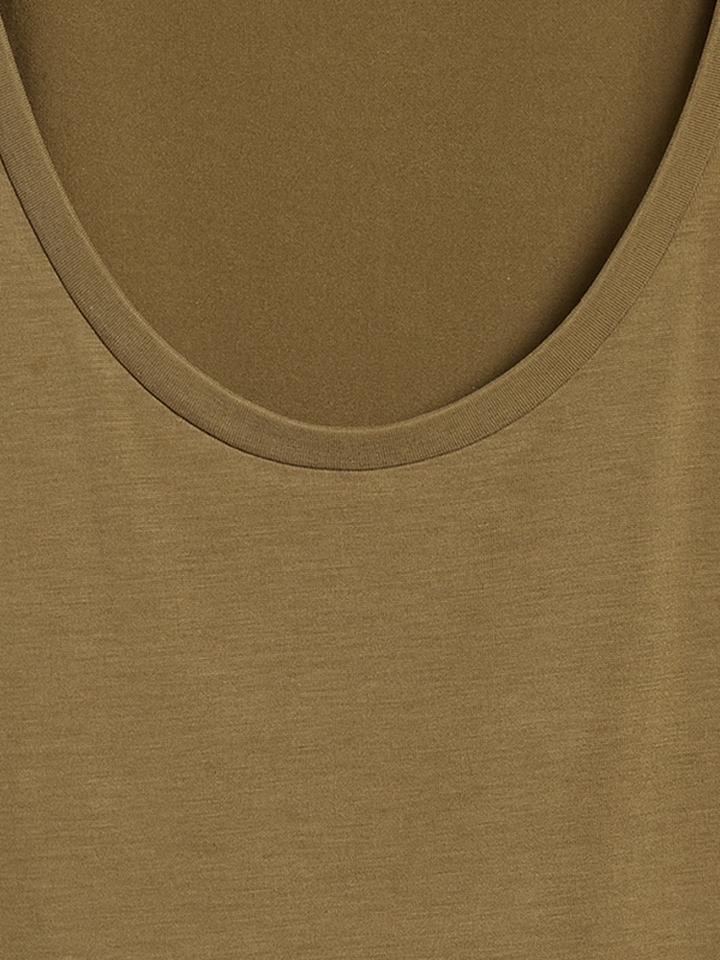 Kadın Beyaz Sandwash Modal T-Shirt