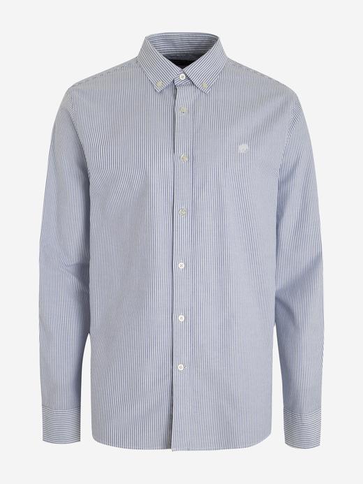 Erkek Mavi Untucked Oxford Gömlek