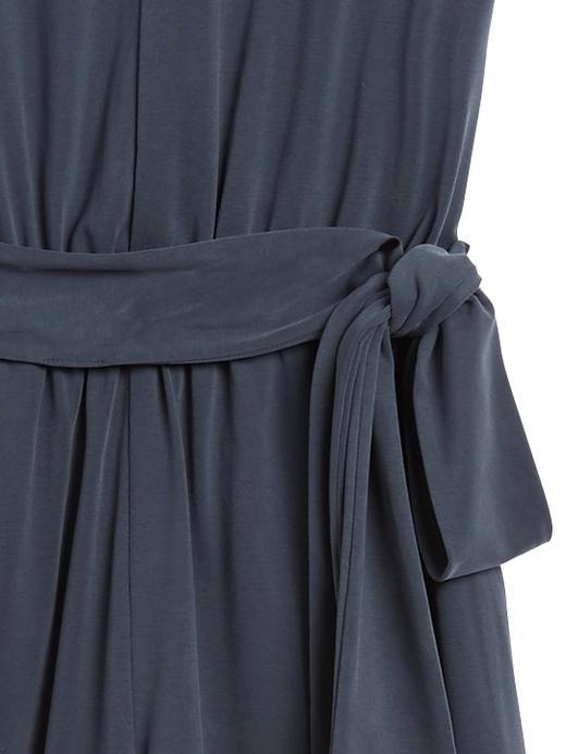 Kadın Siyah Sandwash Modal Cropped Tulum