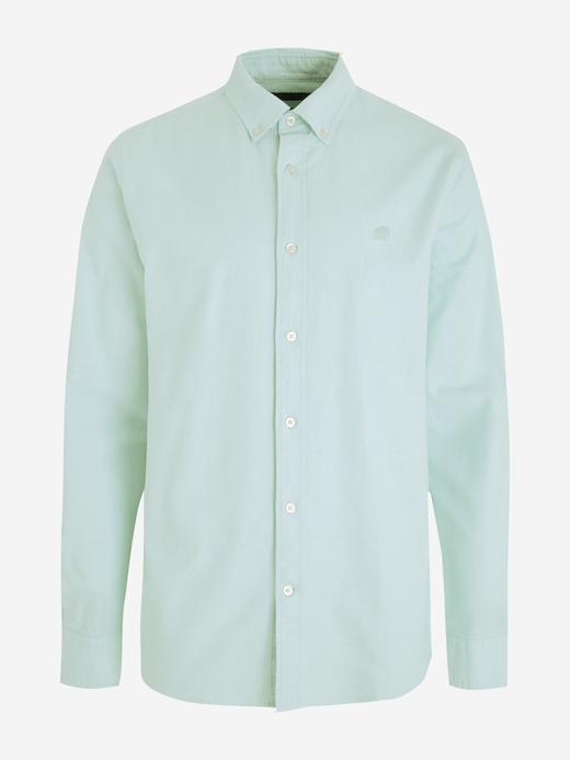 Erkek Yeşil Untucked Slim Oxford Gömlek