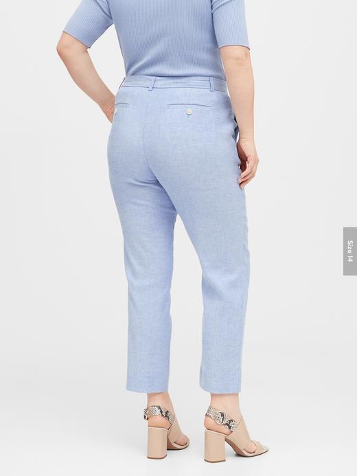 Kadın Mavi Avery Straight-Fit Pantolon