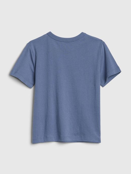Erkek Bebek mercan Grafik Kısa Kollu T-Shirt
