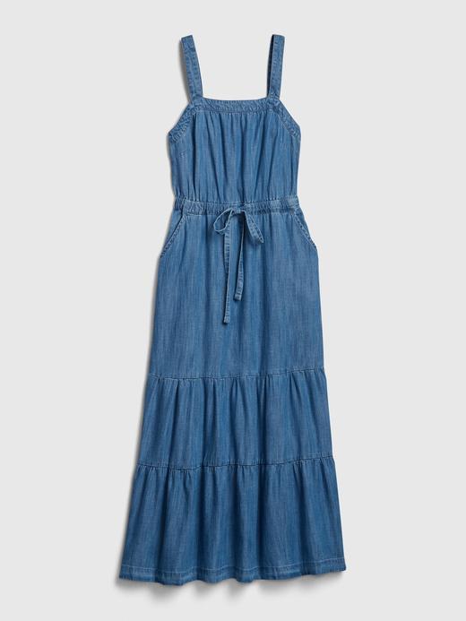 Kadın Mavi TENCEL™ Maxi Elbise