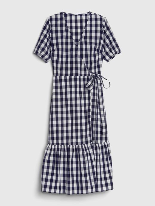 Kadın Lacivert Anvelop Midi Elbise