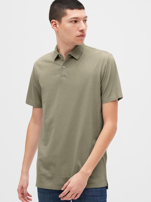Erkek Yeşil Vintage Soft Polo Yaka T-Shirt