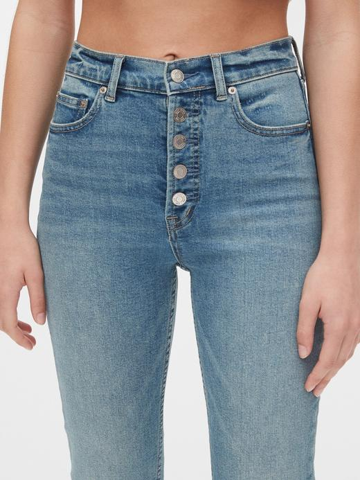 Kadın Mavi High Rise Cigarette Jean Pantolon