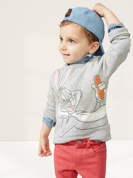 Erkek Bebek Gri WB Looney Tunes Sweatshirt