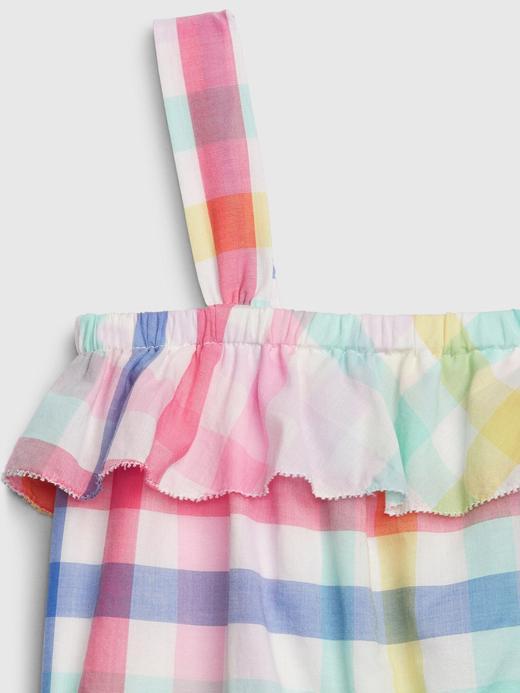 Kız Bebek Çok renkli Fırfır Detaylı Tulum