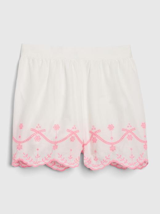 Kız Bebek Beyaz Dantel Detaylı Pull-On Şort