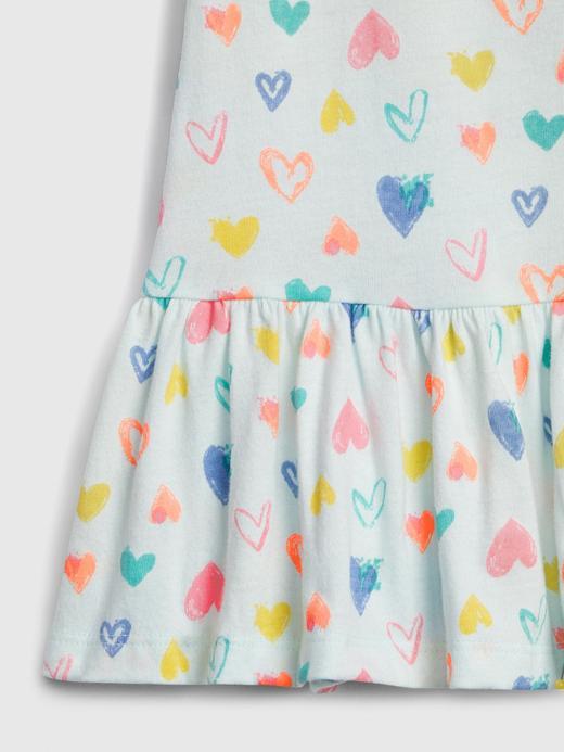 Kız Bebek Pembe Desenli Peplum Tunik
