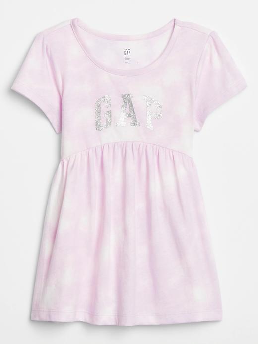 Kız Bebek Mor Gap Logo Kısa Kollu Tunik