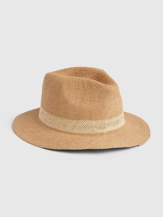 Kadın Bej Panama Hasır Şapka