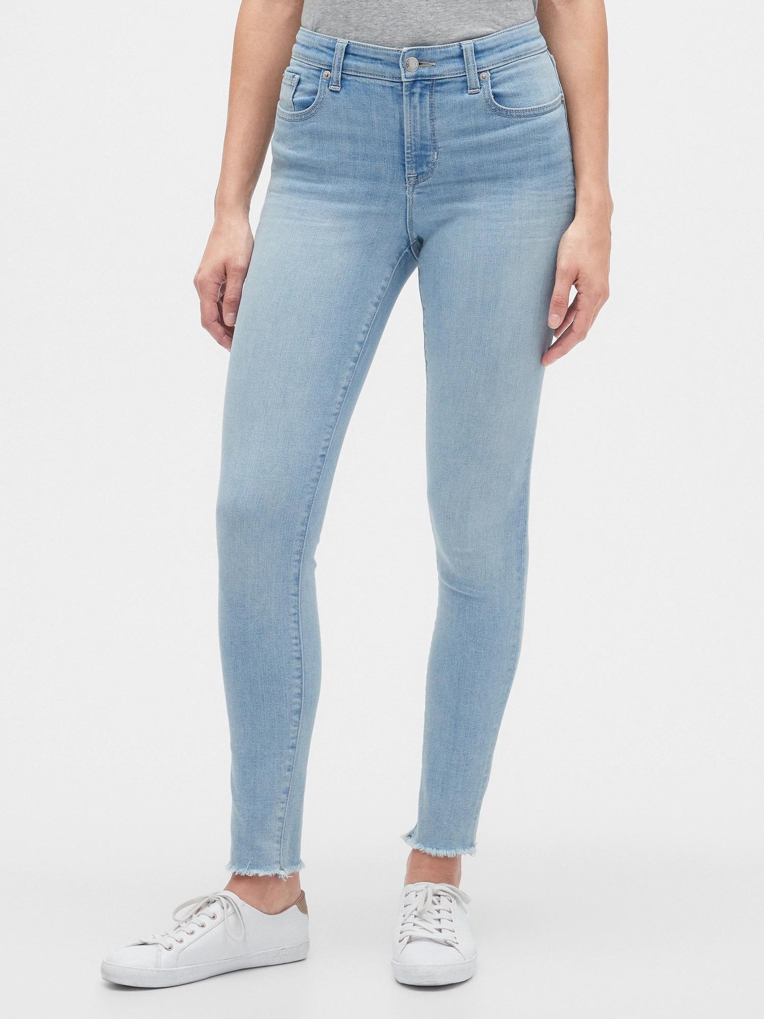 GAP Mavi Mid Rise Legging Skimmer Jean Pantolon