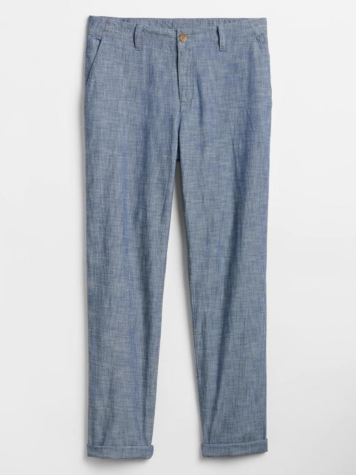 Kadın Mavi Girlfriend Khakis Şambre Pantolon