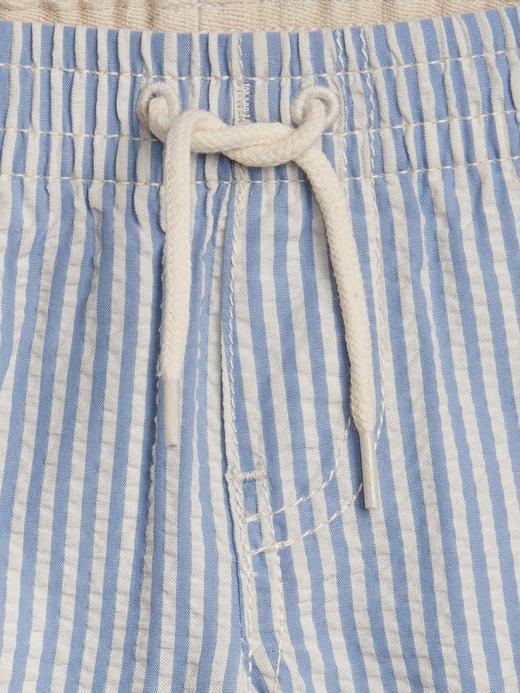 Erkek Bebek Mavi Desenli Pull-On Şort
