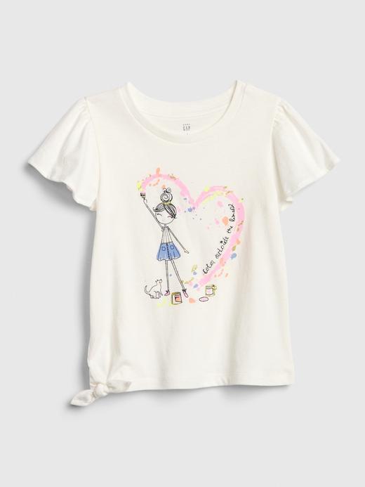 Kız Bebek Bej Bea Kısa Kollu T-Shirt