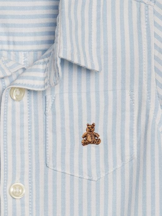 Erkek Bebek Mavi Brannan Bear Oxford Tulum