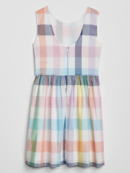 Kız Çocuk Çok renkli Desenli Kolsuz Elbise