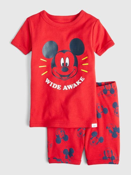 Kız Bebek Kırmızı Disney Mickey Mouse Pijama Takımı