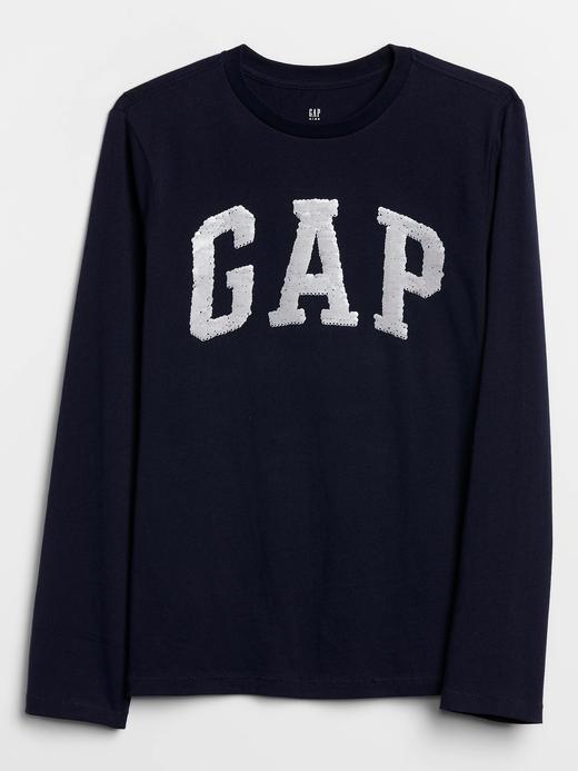 Erkek Çocuk Lacivert Gap Logo Pullu İşlemeli T-Shirt