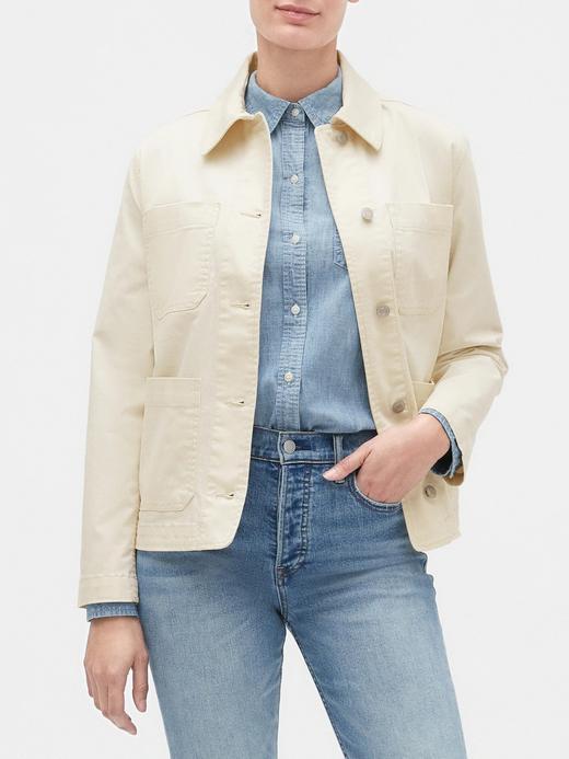 Kadın Bej Cep Detaylı Ceket