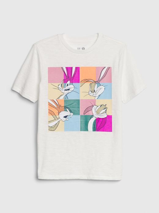 Erkek Çocuk Beyaz WB Looney Tunes Kısa Kollu T-Shirt