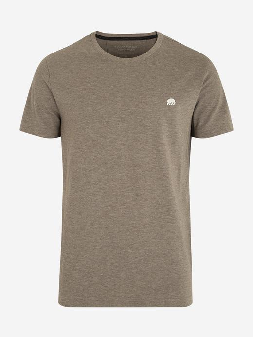 Erkek Kahverengi Kısa Kollu T-Shirt