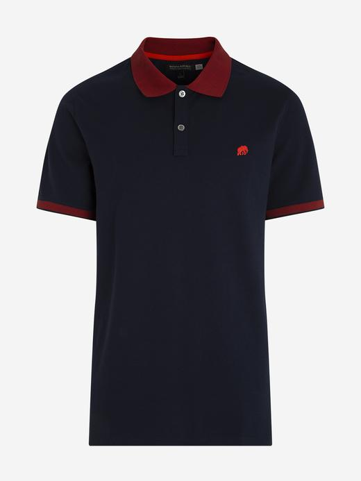 Erkek Lacivert Signature Pique Polo Yaka T-Shirt