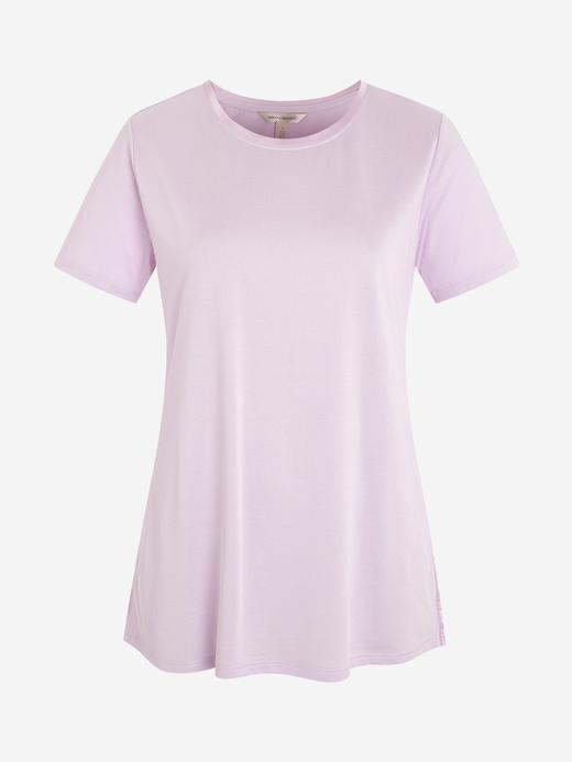 Kadın Lila Kısa Kollu T-Shirt