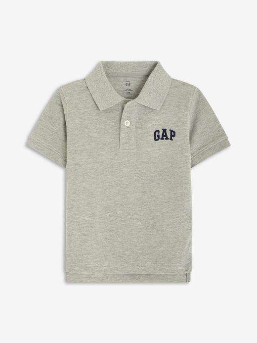 Erkek Bebek Gri Gap Logo Polo Yaka T-Shirt