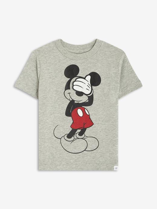 Erkek Bebek Gri Disney Mickey Mouse 3D Grafik T-Shirt