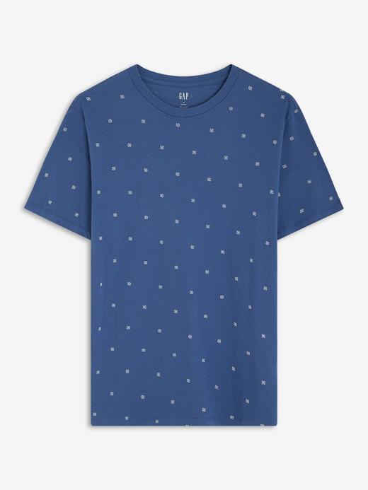 Erkek Mavi Kısa Kollu Yuvarlak Yaka T-Shirt