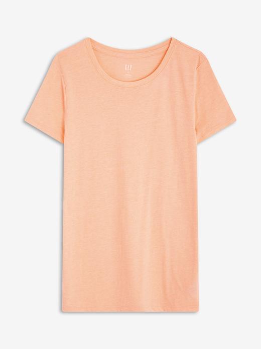 Kadın Turuncu Sıfır Yaka T-Shirt