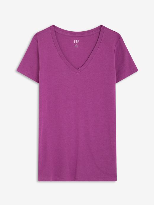 Kadın Mor Favorite V Yaka T-Shirt
