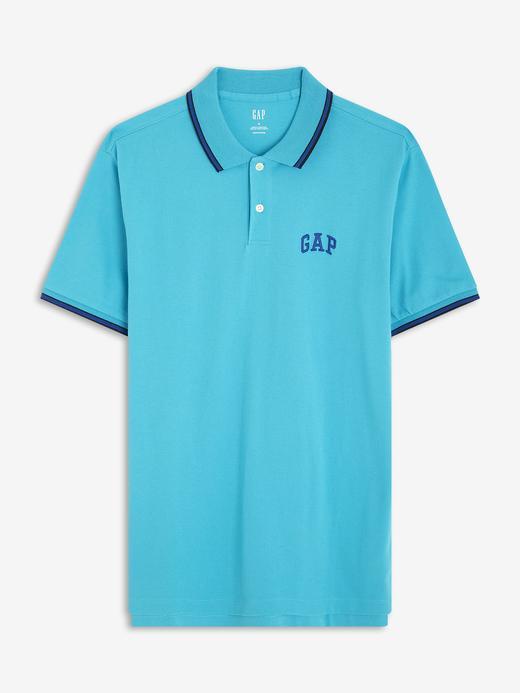 Erkek turkuaz Gap Logo Polo Yaka T-Shirt