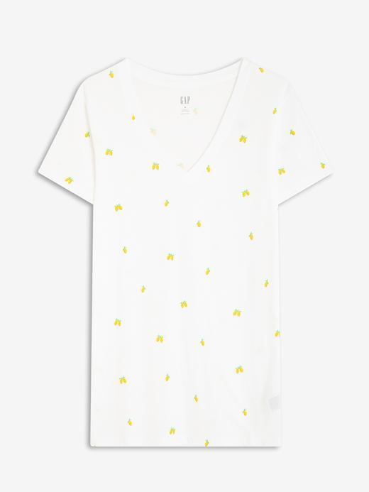 Kadın Beyaz Favorite V-Yaka T-Shirt