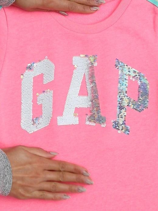 Kız Çocuk Pembe Gap Logo Pullu Elbise