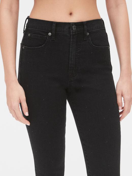 Kadın Siyah High Rise True Skinny Ankle Jean Pantolon