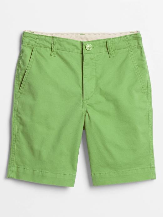 Erkek Çocuk Yeşil Twill Şort