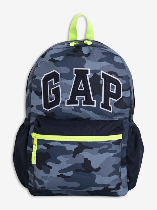 Erkek Çocuk Mavi Gap Logo Kamuflaj Desenli Sırt Çantası