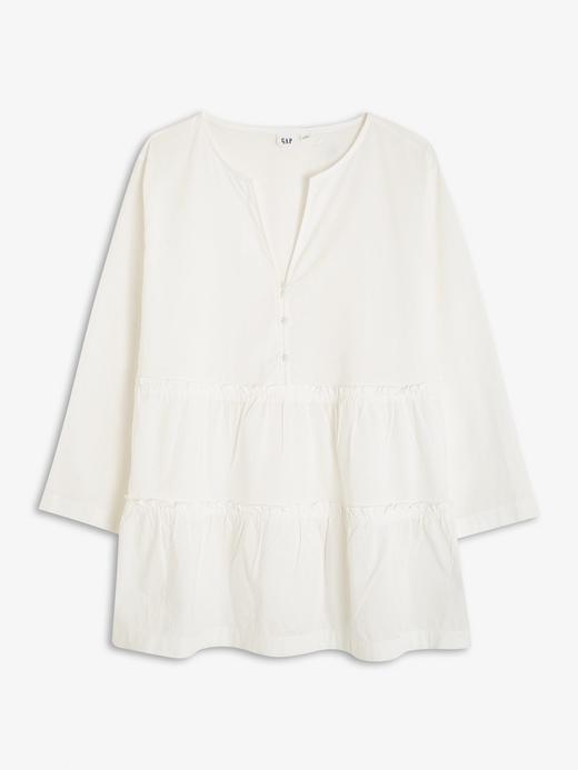Kadın Beyaz V Yaka Uzun Kollu Bluz