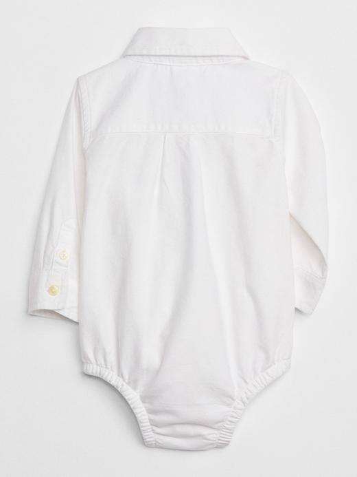 Bebek Beyaz Oxford Tulum