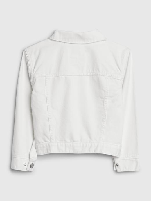 Kız Çocuk Beyaz Leke Tutmayan Denim Ceket