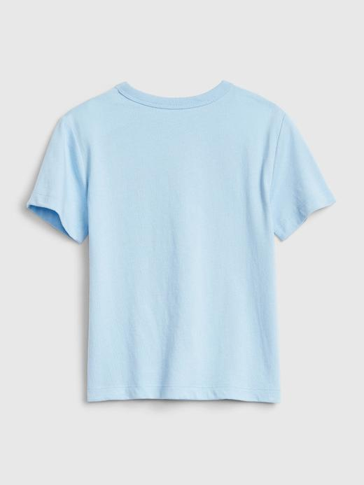 Erkek Bebek açık mavi Grafik Desenli Kısa Kollu T-Shirt