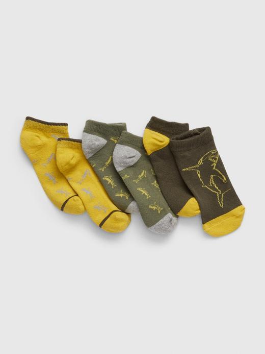 Erkek Çocuk çok renkli 3'lü Köpek Balığı Desenli Çorap Seti