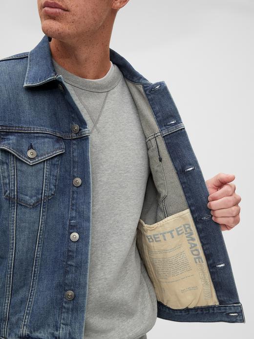 Erkek Mavi BetterMade Icon Denim Ceket